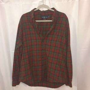 Ralph Lauren Shirt long sleeve XL blue/red/green